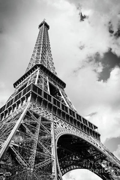 Wall Art - Photograph - Eiffel Tower In Black And White by Delphimages Photo Creations