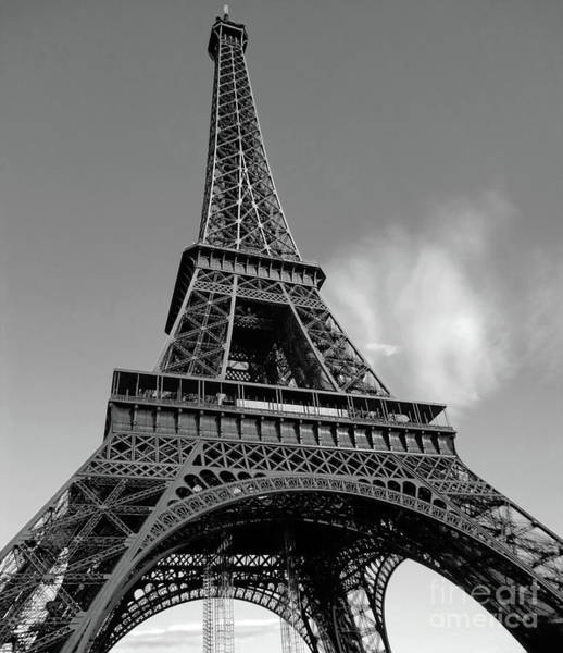 Photograph - Eiffel Tower In Black And White by Gregory Dyer