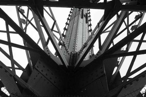 Photograph - Eiffel Tower Ironwork by Helen Northcott