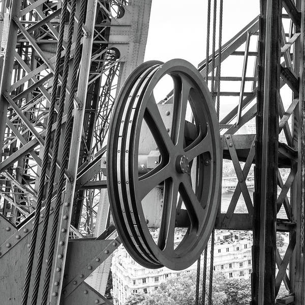 Photograph - Eiffel Tower Ironwork II by Helen Northcott