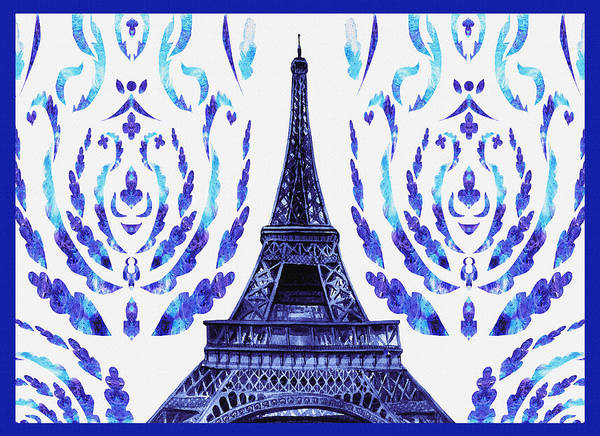 Painting - Eiffel Tower Laces II by Irina Sztukowski