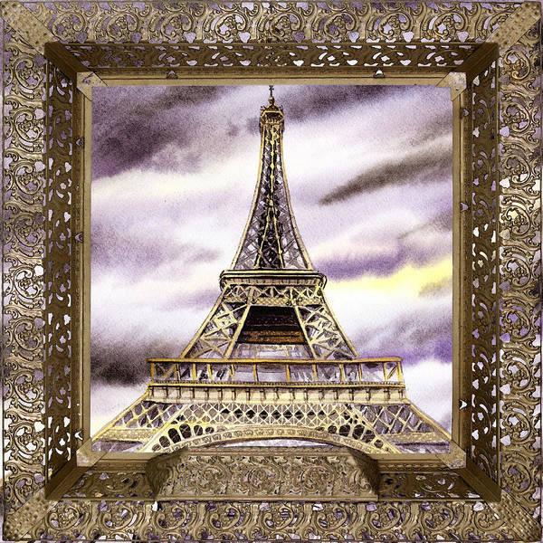 Painting - Eiffel Tower Laces Iv  by Irina Sztukowski
