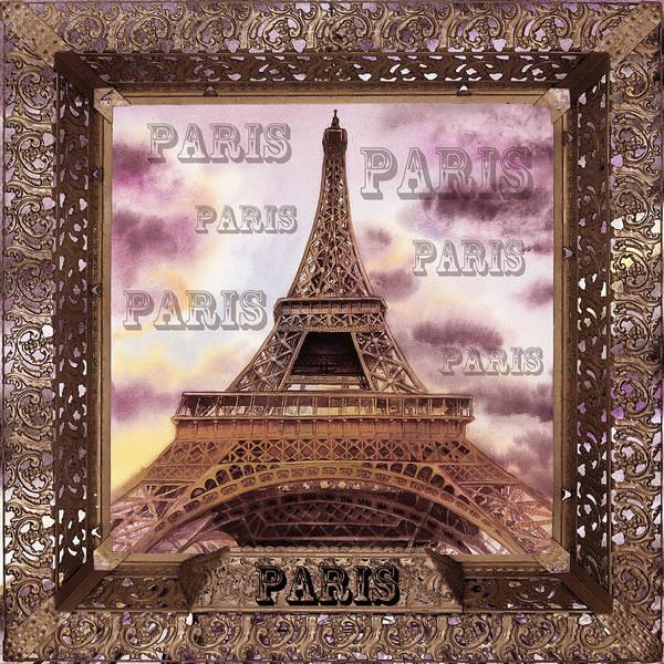 Painting - Eiffel Tower Laces V by Irina Sztukowski