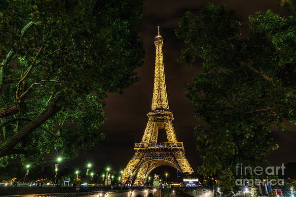Photograph - Eiffel Tower Lights by Alissa Beth Photography
