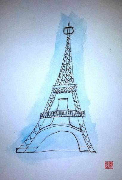 Painting - Eiffel Tower by Margaret Welsh Willowsilk