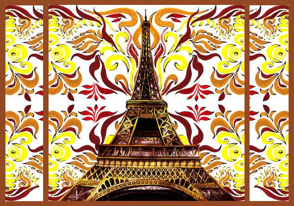 Painting - Eiffel Tower Mystic Laces I by Irina Sztukowski