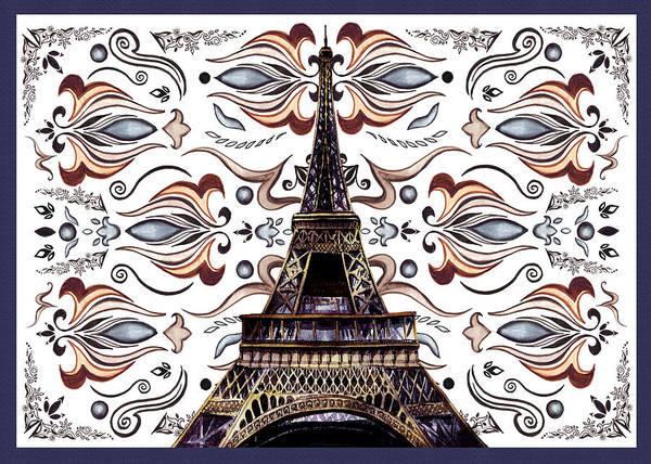 Painting - Eiffel Tower Mystic Laces IIi by Irina Sztukowski