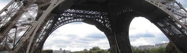 Photograph - Eiffel Tower Panoramic Paris France by John Shiron