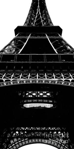 Wall Art - Painting - Eiffel Tower Paris Graphic Phone Case by Edward Fielding