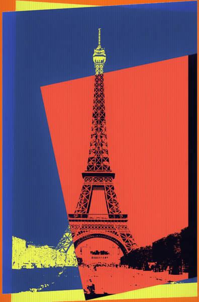 European Vacation Mixed Media - Eiffel Tower Pop Art by Dan Sproul