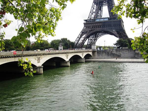 Photograph - Eiffel Tower Seine River Paris France by John Shiron