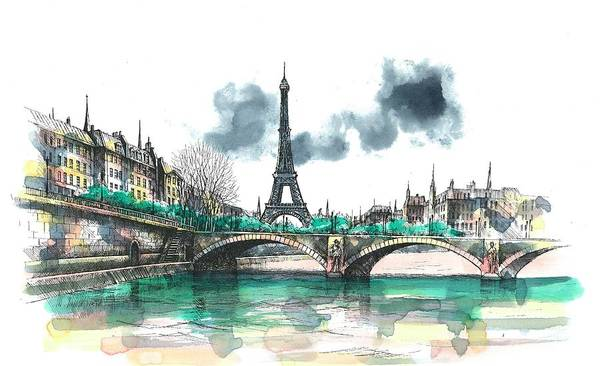 Eiffel Tower Wall Art - Painting - Eiffel Tower by Seventh Son