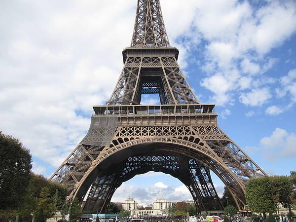 Photograph - Eiffel Tower Tarped V Paris France by John Shiron
