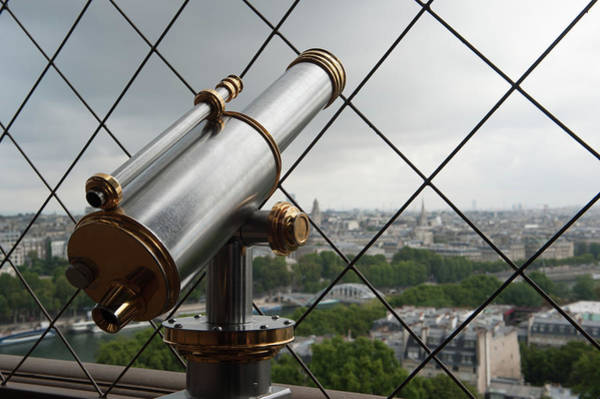 Photograph - Eiffel Tower Telescope by Helen Northcott