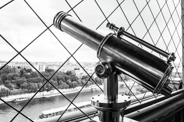 Photograph - Eiffel Tower Telescope II by Helen Northcott