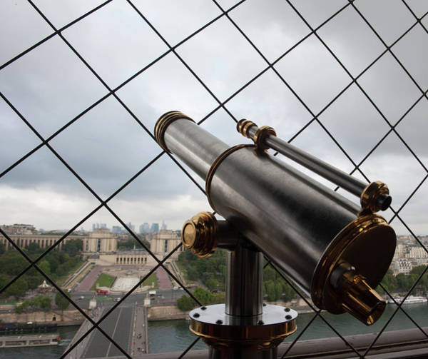 Photograph - Eiffel Tower Telescope Iv by Helen Northcott