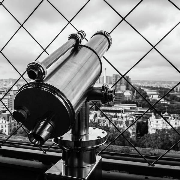 Photograph - Eiffel Tower Telescope V by Helen Northcott
