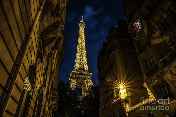 Photograph - Eiffel Tower Twinkle At Night by Alissa Beth Photography