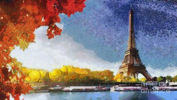 Painting - Eiffel Tower Vegged Out In Italian by Catherine Lott