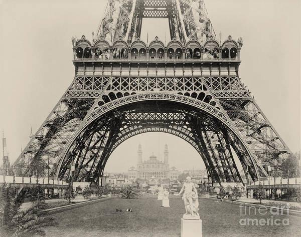 Le Tour De France Wall Art - Digital Art - Eiffel Tower Vintage Photo by Scarebaby Design