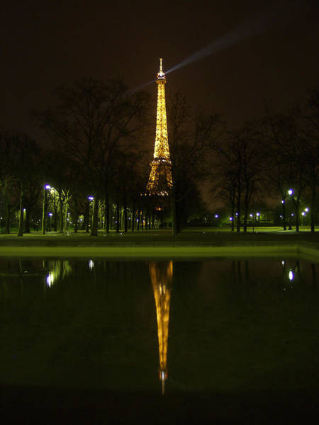 Photograph - Eiffel Twin Reflection by Mark Currier