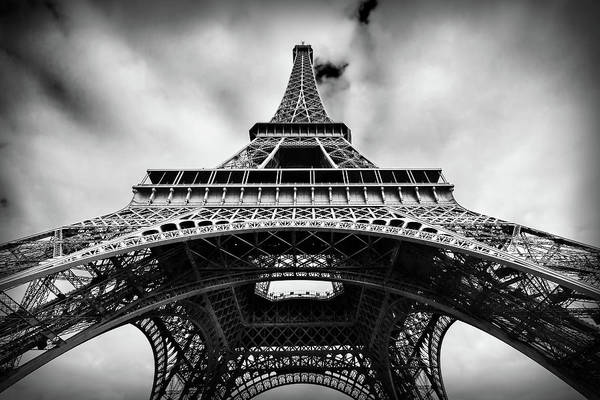 Photograph - Eiffelt Tower From Below - Paris by Barry O Carroll