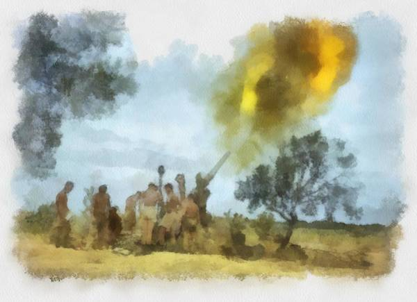Tunisia Wall Art - Painting - Eight Army Tunisa Wwii by Esoterica Art Agency