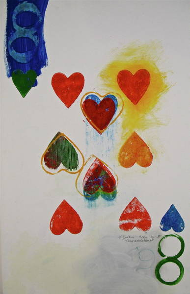 Painting - Eight Of Hearts 9-52  2nd Series  by Cliff Spohn