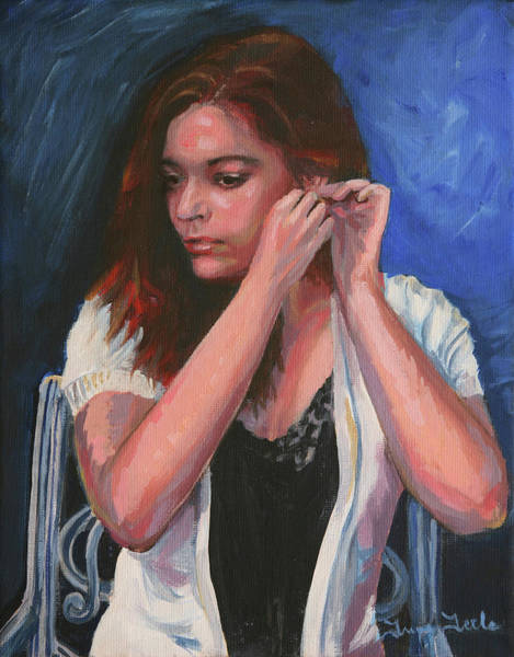 Painting - Eighteen Portrait By Moonlight by Trina Teele