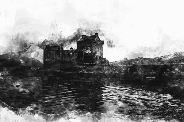 Eilean Donan Castle Painting - Eilean Donan Castle - 01 by Andrea Mazzocchetti