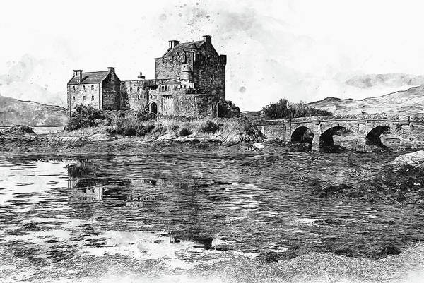 Eilean Donan Castle Painting - Eilean Donan Castle - 03 by Andrea Mazzocchetti