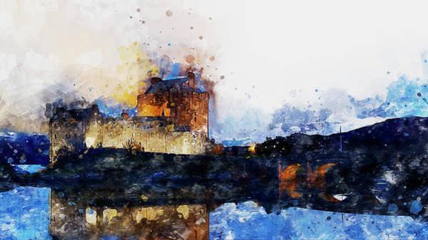 Eilean Donan Castle Painting - Eilean Donan Castle - 05 by Andrea Mazzocchetti