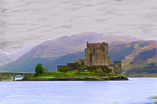 Eilean Donan Castle Digital Art - Eilean Donan Castle-dm by Bruce