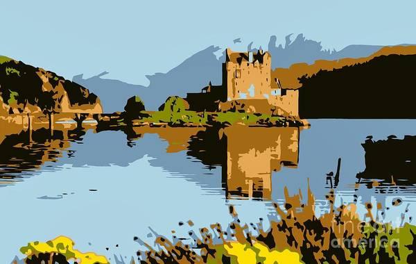 Eilean Donan Castle Digital Art - Eilean Donan Castle by Heidi De Leeuw