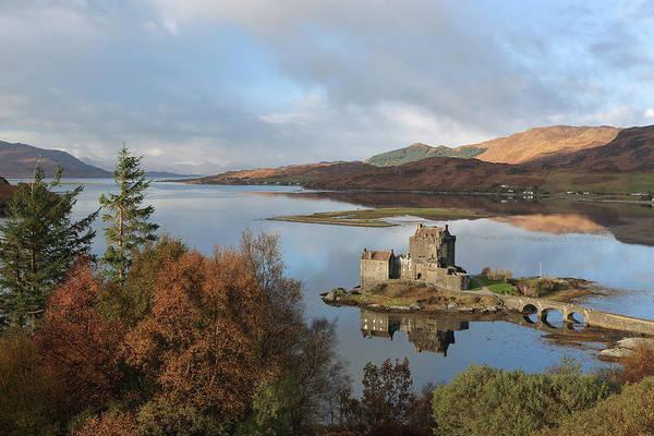 Photograph - Eilean Donan Castle In Autumn by Maria Gaellman