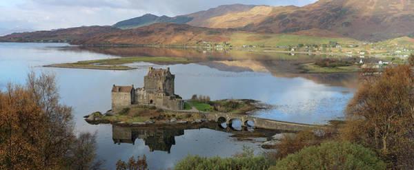 Eilean Donan Castle In Autumn - Panorama Art Print