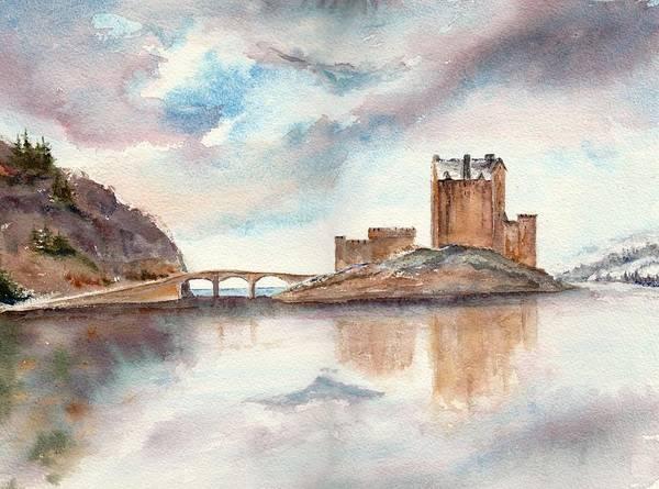 Eilean Donan Castle Painting - Eilean Donan Castle by Lisa Thomson Goundie