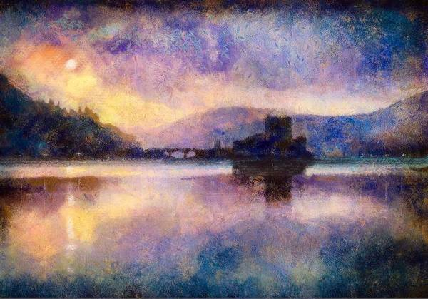 Eilean Donan Castle Painting - Eilean Donan Castle Moonlight by Kevin Hunter