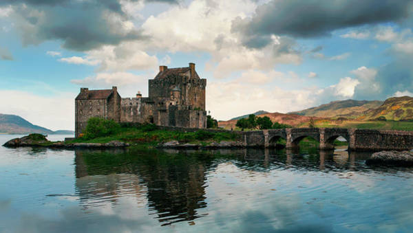 Wall Art - Photograph - Eilean Donan Castle On A Cloudy Day by Jaroslaw Blaminsky