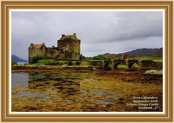 Eilean Donan Castle Painting - Eilean  Donan Castle - Scotland- 2 L A With Decorative Ornate Printed Frame. by Gert J Rheeders