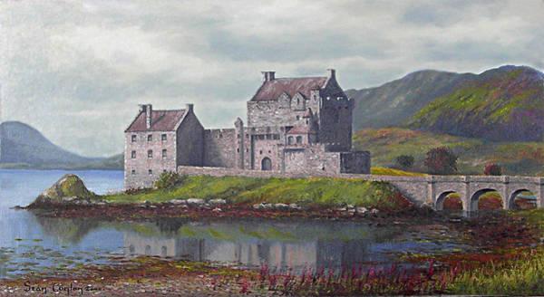 Eilean Donan Castle Painting - Eilean Donan Castle, Scotland 2000 by Sean Conlon