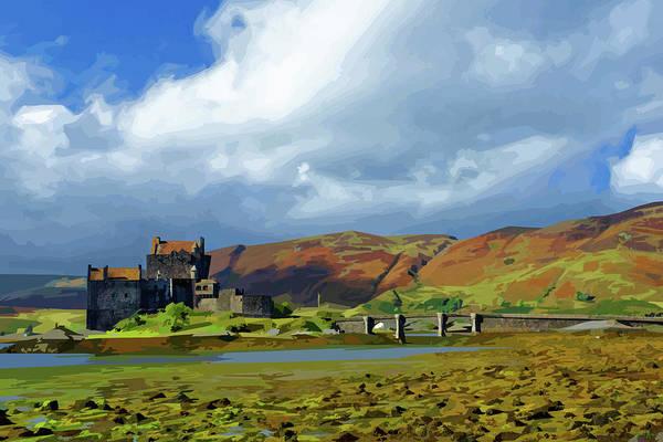 Eilean Donan Castle Digital Art - Eilean Donan Castle, Scotland by Brian Shaw