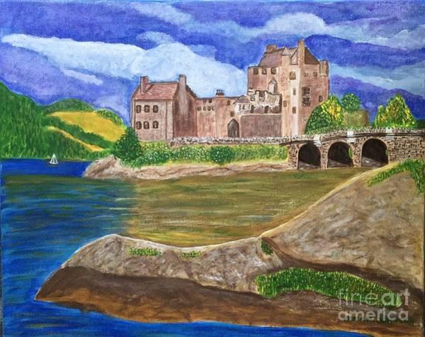 Eilean Donan Castle Painting - Eilean Donan Castle, Scotland by Gina Nicolae Johnson