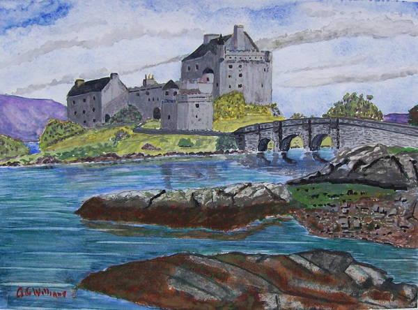 Eilean Donan Castle Painting - Eilean Donan Castle Scotland by Tony Williams