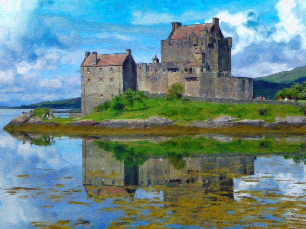 Painting - Eilean Donan Castle - Sct650681 by Dean Wittle