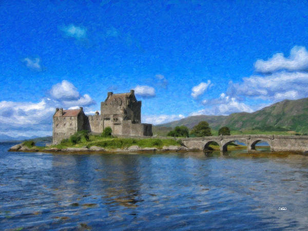 Painting - Eilean Donan Castle - Sct671252 by Dean Wittle