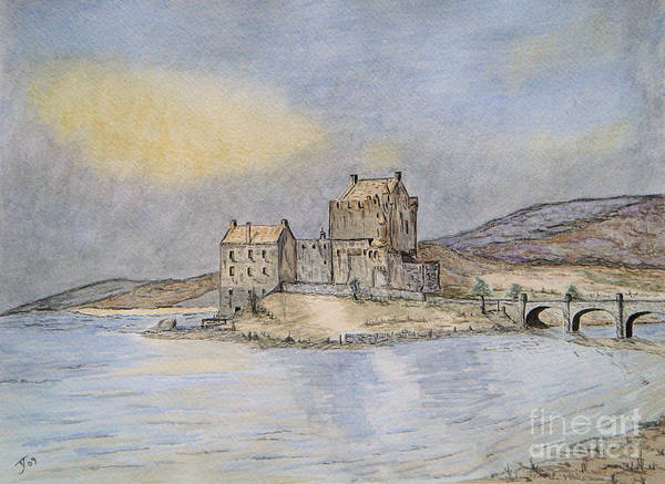 Eilean Donan Castle Painting - Eilean Donan Castle by Yvonne Johnstone