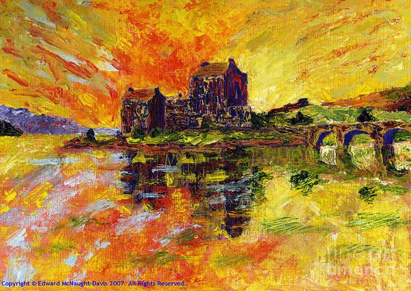 Eilean Donan Castle Painting - Eilean Donan by Edward McNaught-Davis