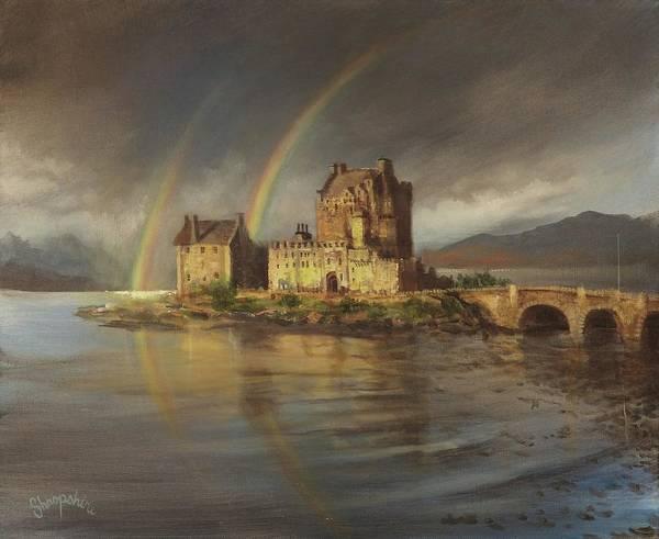 Eilean Donan Castle Painting - Eilean Donans Rainbows by Tom Shropshire