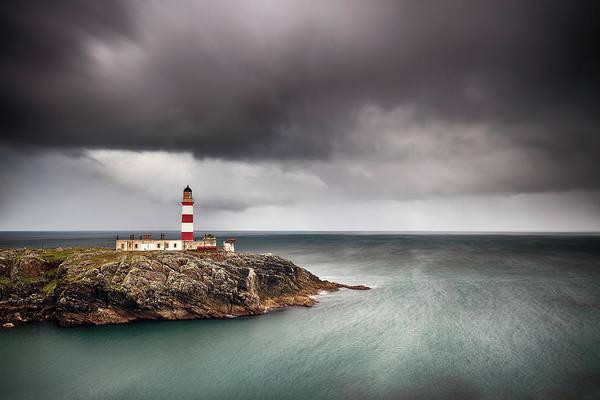 Photograph - Eilean Glas Lighthouse 5 by Grant Glendinning